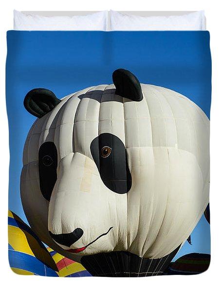 Panda Balloon Duvet Cover