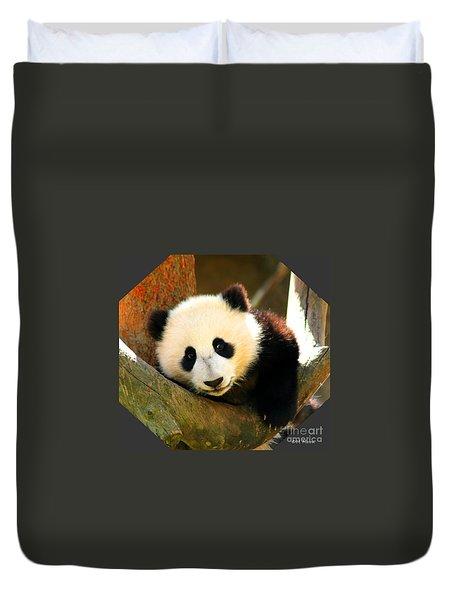 Panda Bear Baby Love Duvet Cover