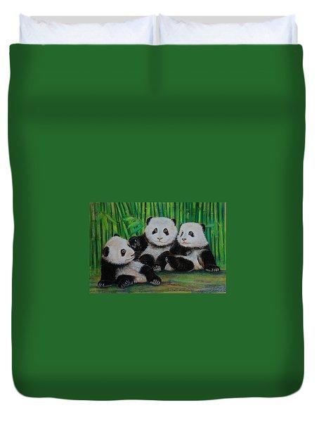 Panda Cubs Duvet Cover