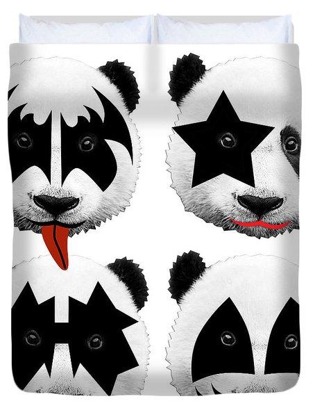Panda Kiss  Duvet Cover by Mark Ashkenazi