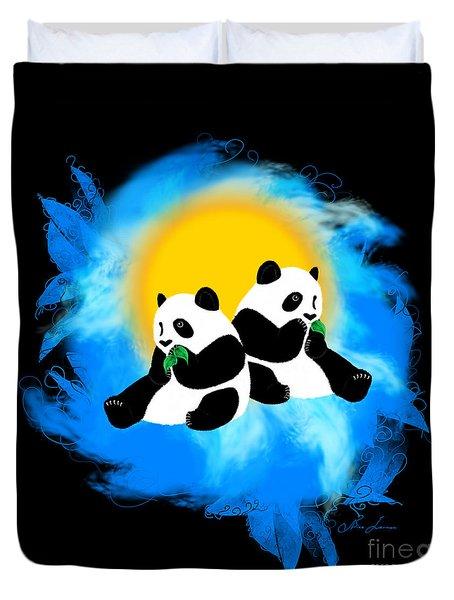 Panda Twins Duvet Cover