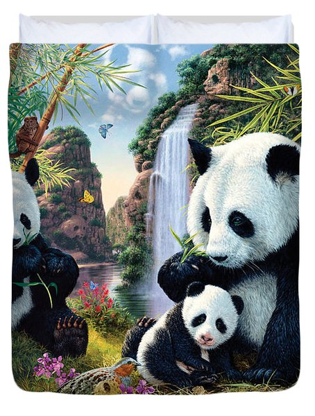 Panda Valley Duvet Cover by Steve Read