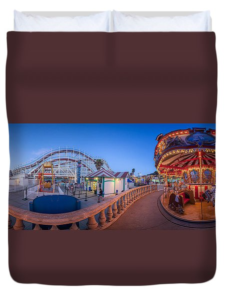 Panorama Giant Dipper Goes 360 Round And Round Duvet Cover