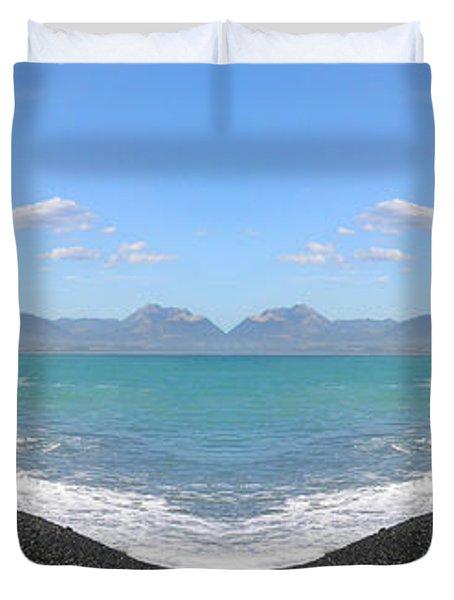Panorama Lake Duvet Cover