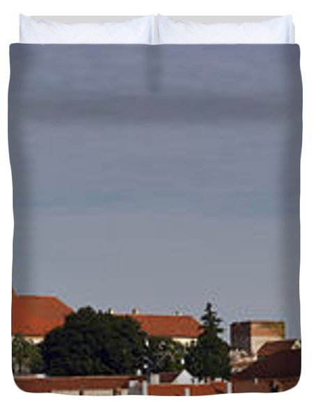 panorama - Mikulov castle Duvet Cover by Michal Boubin