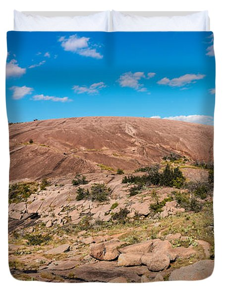 Panorama Of Enchanted Rock State Natural Area - Fredericksburg Texas Hill Country Duvet Cover
