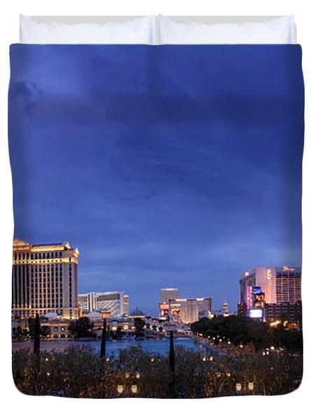 Panorama Of Las Vegas Duvet Cover