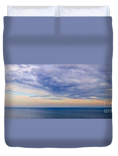 Panorama Of Sky Over Water Duvet Cover