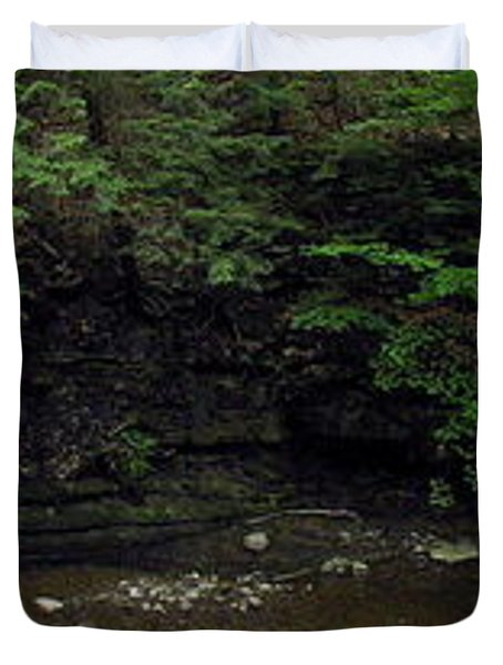Panorama Of Wolf Creek At Letchworth State Park Duvet Cover by Rose Santuci-Sofranko