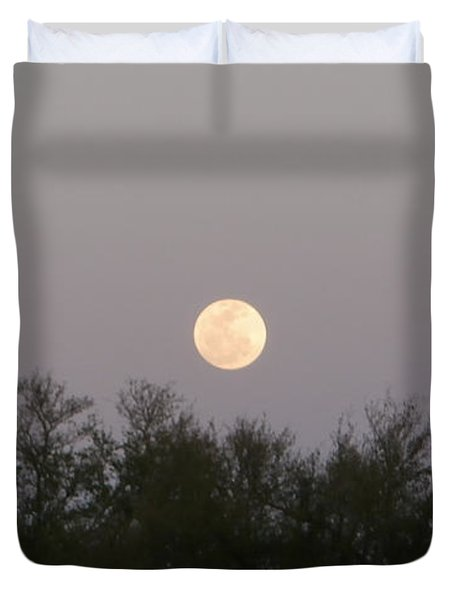 Panoramic New Orleans Moon Rising Duvet Cover by Joseph Baril