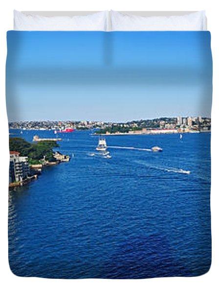 Panoramic Sydney Harbour Duvet Cover by Kaye Menner