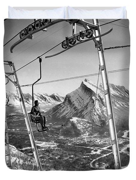 Panoramic View In Alberta Duvet Cover