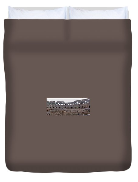Panoramic View Of The Colosseum Duvet Cover
