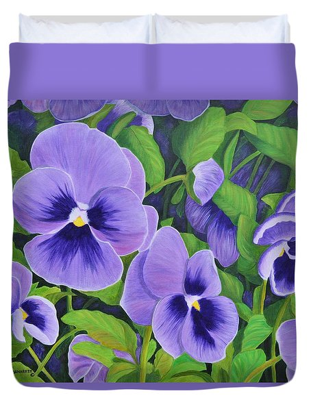 Pansies Schmanzies Duvet Cover