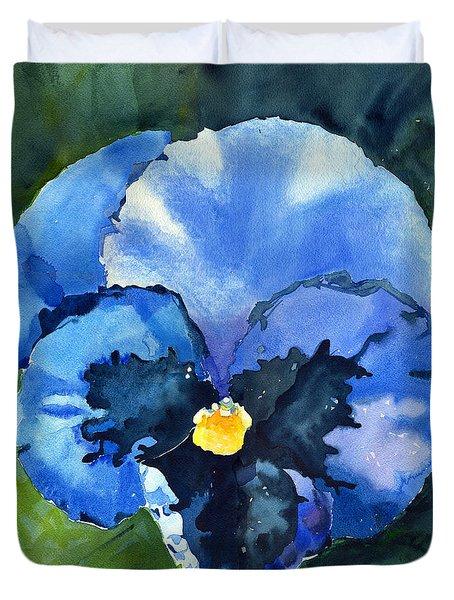 Pansy Blue Duvet Cover