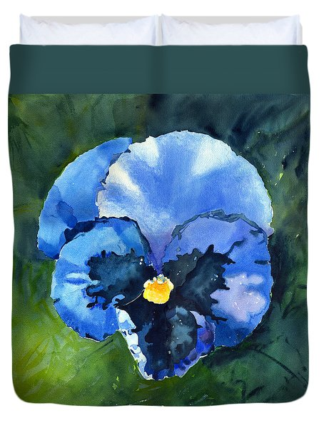 Pansy Blue Duvet Cover