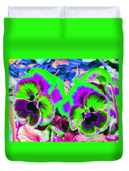 Pansy Power 60 Duvet Cover