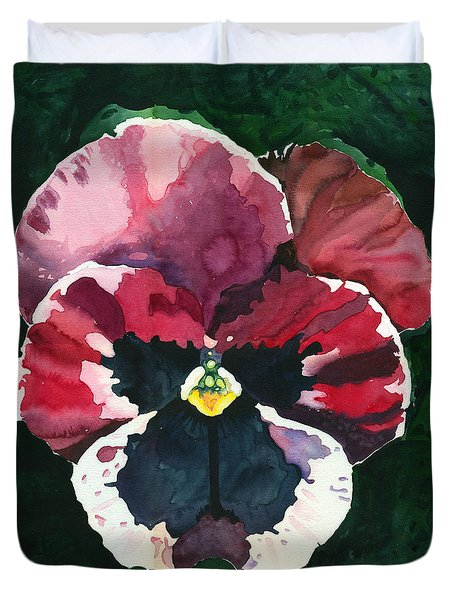 Pansy Red Duvet Cover