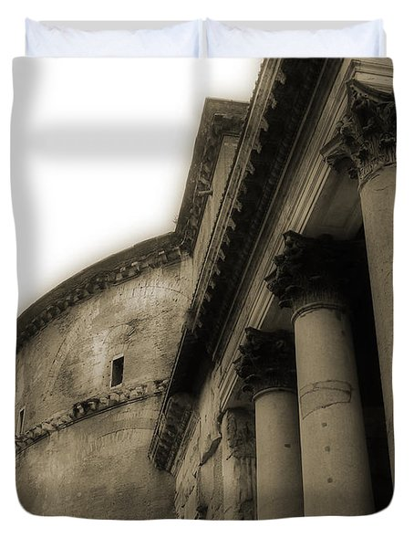 Duvet Cover featuring the photograph Pantheon by Angela DeFrias