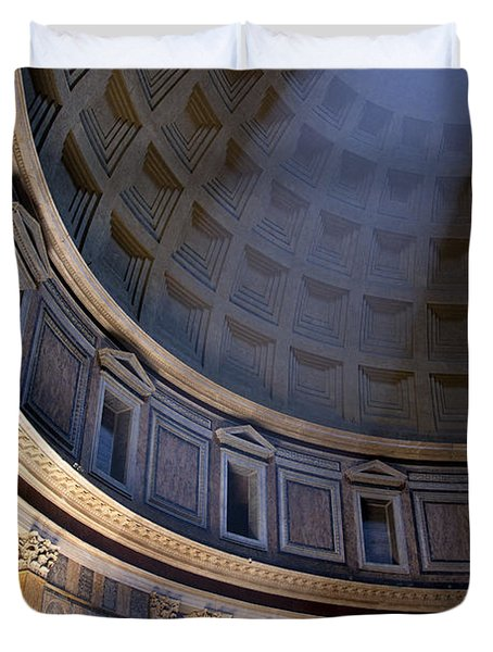 Duvet Cover featuring the photograph Pantheon Interior by Brian Jannsen
