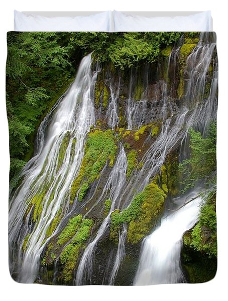 Panther Creek Falls 2- Washington Duvet Cover