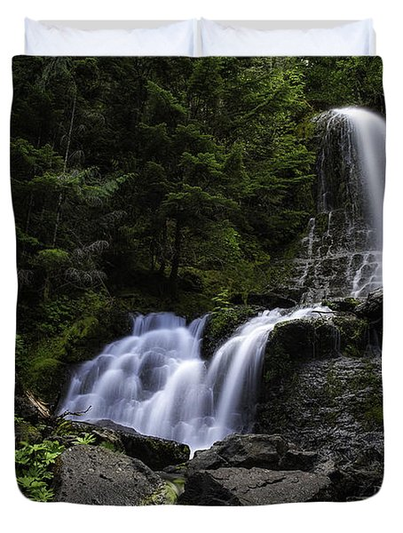 Panther Falls Duvet Cover by James Heckt