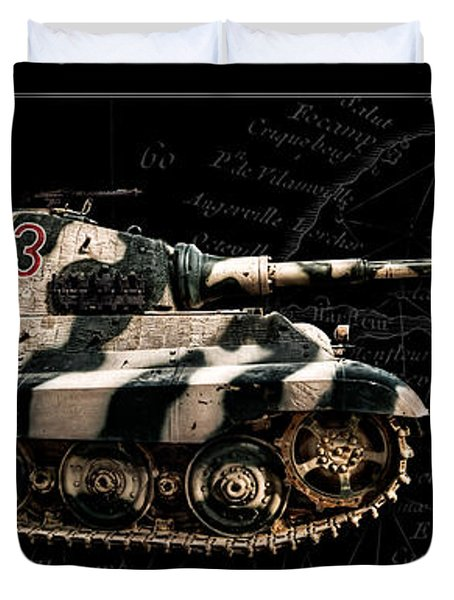 Panzer Tiger II Side Bk Bg Duvet Cover