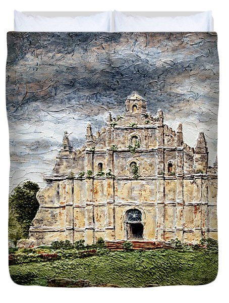 Paoay Church Duvet Cover