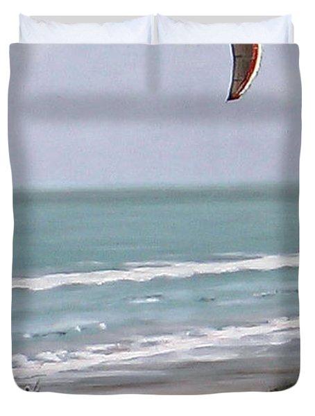 Papamoa Beach 090208 Duvet Cover