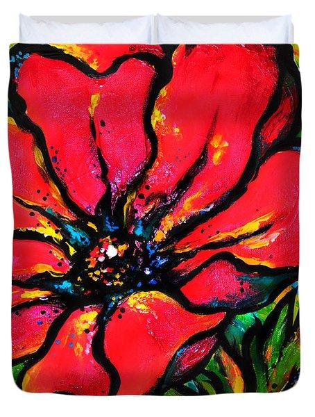 Poppy I Duvet Cover