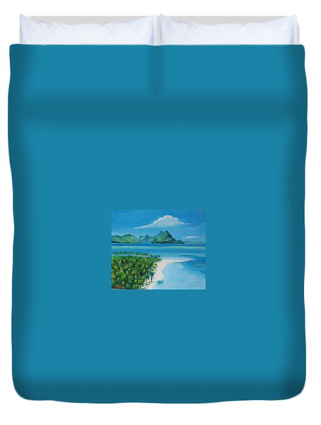 Papeete Bay In Tahiti Duvet Cover