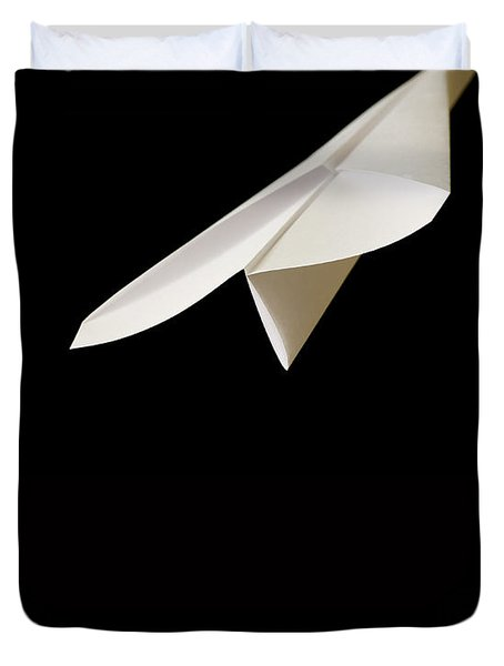 Paper Airplane Duvet Cover by Edward Fielding