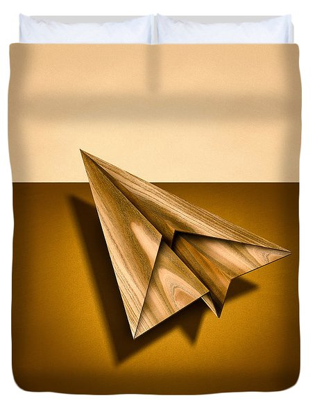 Paper Airplanes Of Wood 1 Duvet Cover by YoPedro