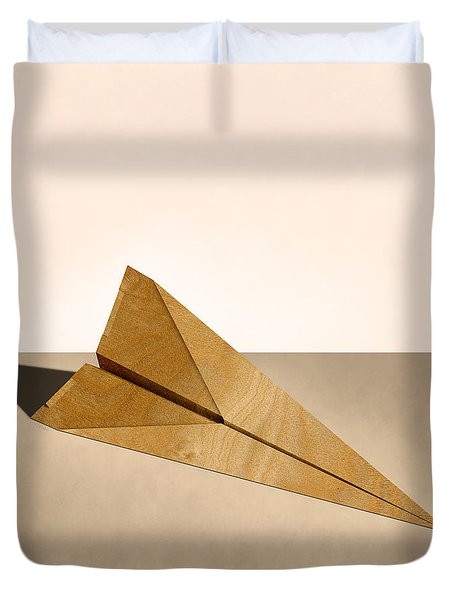 Paper Airplanes Of Wood 15 Duvet Cover