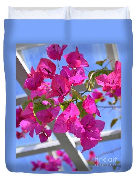Paper Flowers Duvet Cover by Kathleen Struckle