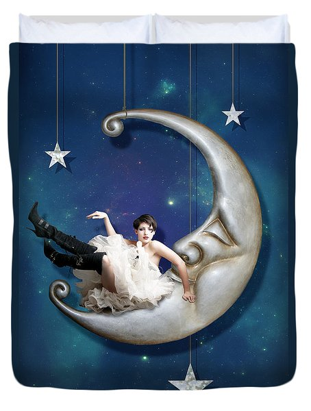 Paper Moon Duvet Cover