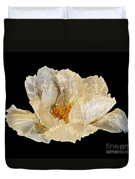 Paper Peony Duvet Cover by Diane E Berry