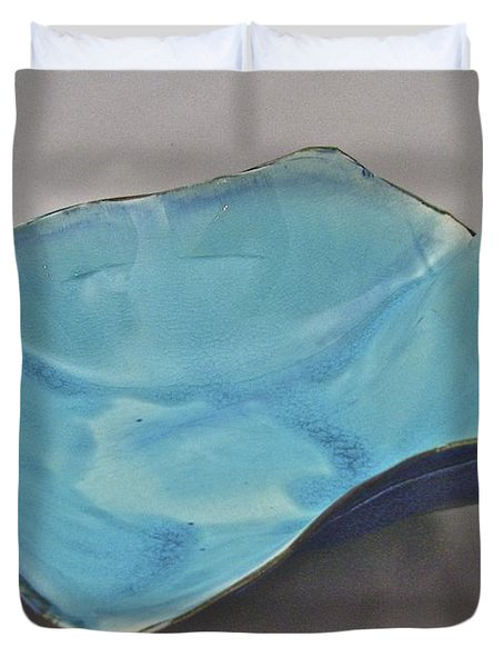 Duvet Cover featuring the sculpture Paper-thin Bowl  09-012 by Mario Perron