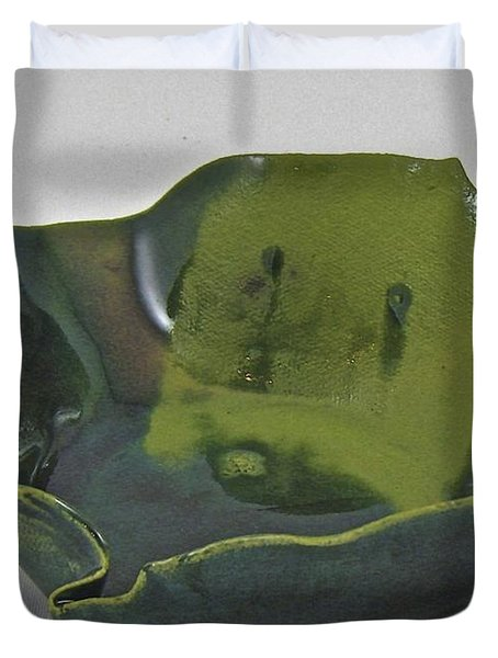 Duvet Cover featuring the sculpture Paper-thin Bowl 09-016 by Mario Perron