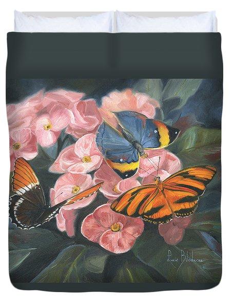 Papillons Duvet Cover