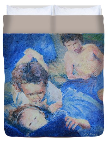 Papo's Putti Duvet Cover by Mark Robbins