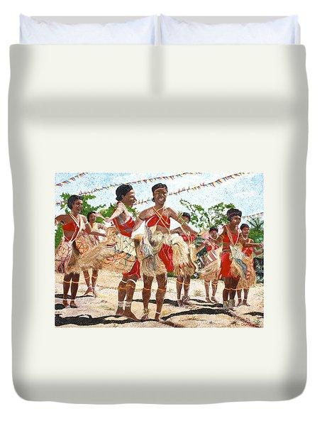 Papua New Guinea Cultural Show Duvet Cover