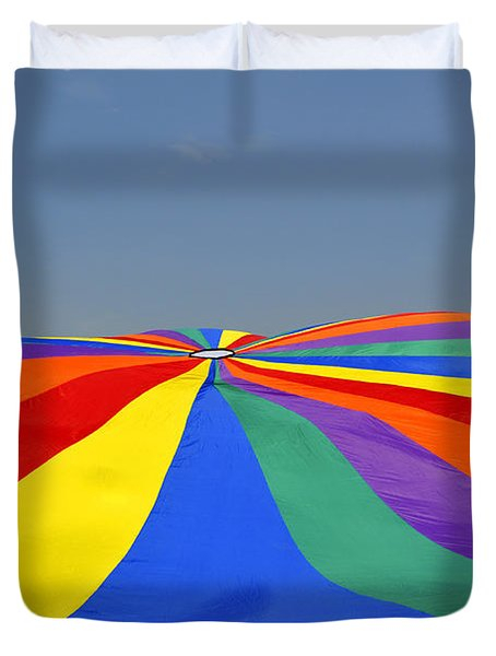 Parachute Of Many Colors Duvet Cover