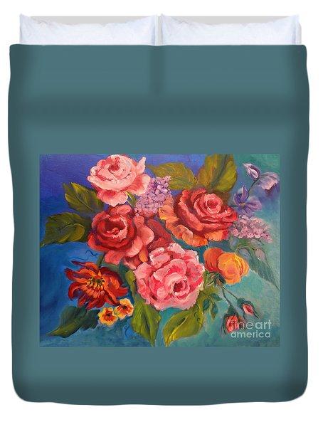 Parade Of Roses 11 Duvet Cover