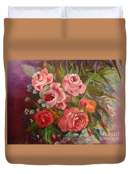 Parade Of Roses Duvet Cover