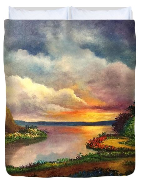 Paradise And Beyond Duvet Cover