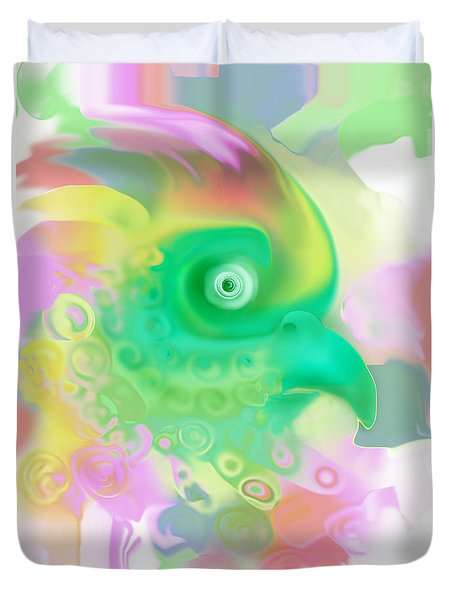 Paradise Bird Duvet Cover by Martina  Rathgens