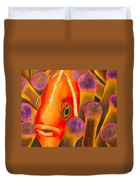 Paradise Clownfish Duvet Cover by Daniel Jean-Baptiste