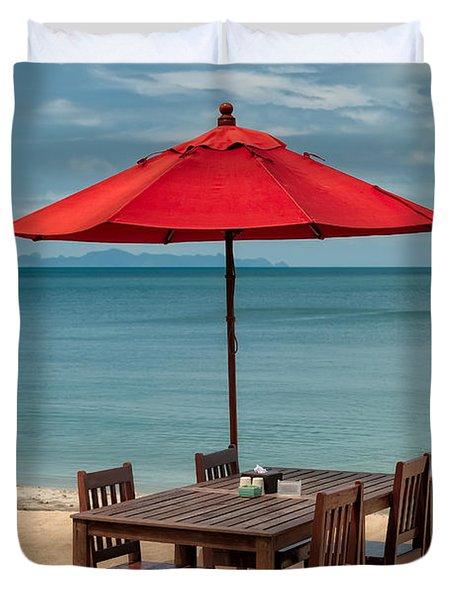 Paradise Dining Duvet Cover