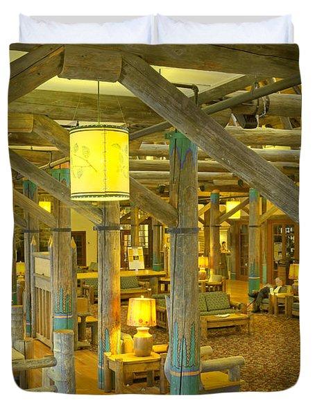 Paradise Inn Lobby Duvet Cover